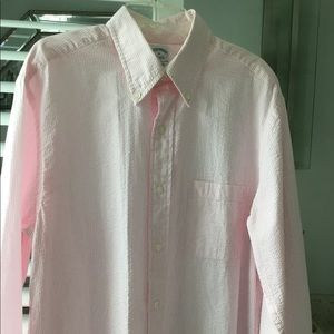 Brooks Brothers Shirts - Brooks Bros Seersucker Original Polo Shirt
